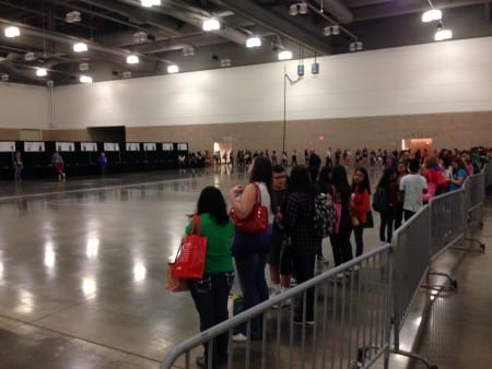 Readers lined up half an hour early for author signatures and waited patiently through long lines.