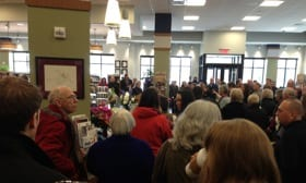 Readers packed the UConn Coop during the Grand Opening Saturday, March 1, 2014