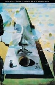 Salvador Dali, Apparition of the Face of Aphrodite