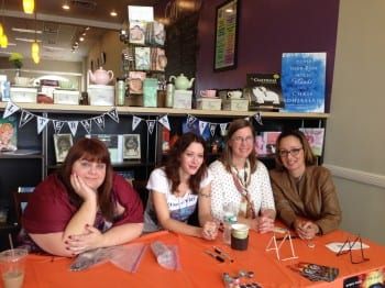 Ann Guirre, Marie Rutkoski, Caragh O'Brien and Pam Brown Margolis at Towne Book Center & Cafe