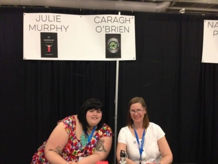 Thanks to alphabetical order, I signed next to Julie Murphy, author of the brilliant novel Dumplin'. We signed for two hours, and I met so many great readers.