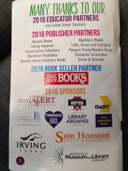 Sponsors of the book fair generously covered expenses so readers could attend for free--a powerful testament to the support for young readers in Irving, Texas.