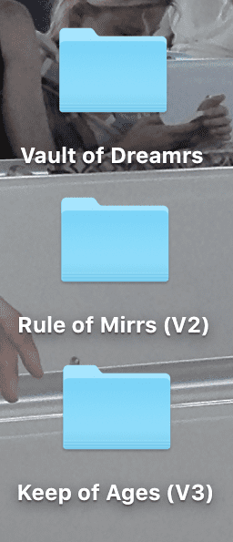Desktop folders
